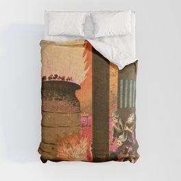 Kobayashi Kiyochika - Top Quality Art - Pot Making Comforters