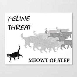 Meowt of Step Canvas Print