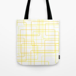 Yellow Line Pattern Tote Bag