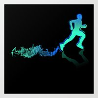 runner Art Prints featuring RUNNER by FoOlRusN