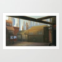 industrial Art Prints featuring Industrial by Toan Nguyen