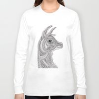 llama Long Sleeve T-shirts featuring Llama by Olya Goloveshkina