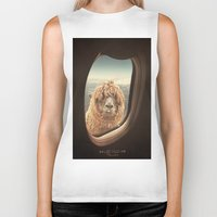 whimsical Biker Tanks featuring QUÈ PASA? by Monika Strigel