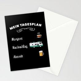 Mein Tagesplan: Kaffee, Wohnmobil & Bier Stationery Cards