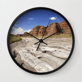 Dry riverbed in Purnululu National Park, Western Australia Wall Clock