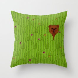 In The Prickly Bush Throw Pillow
