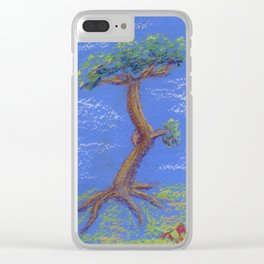 Another Blue Bonsai Clear iPhone Case