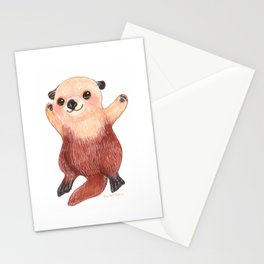 Otterly Adorable Otter Stationery Cards