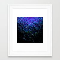 gravity Framed Art Prints featuring gravity by Bunny Noir