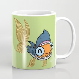 Goldfish in Shark Costume Coffee Mug