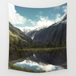 (Franz Josef Glacier) Where the snow melts Wall Tapestry