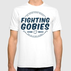 Fighting Gobies Nationals - Blue SMALL Mens Fitted Tee White