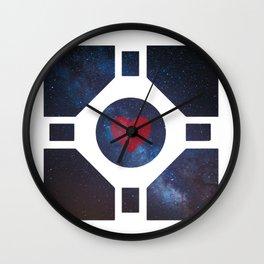 Portal - Companion cube love Wall Clock