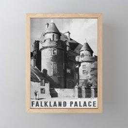 retro monochrome Falkland Palace retro poster Framed Mini Art Print
