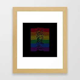 Joy Division - Unknown Rainbow Pleasures Framed Art Print