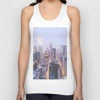 new york skyline Tank Tops featuring New York City Skyline by Vivienne Gucwa
