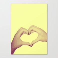 Heart Hand Canvas Print