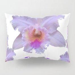 WHITE CATTLEYA ORCHIDS & PURPLE  ART Pillow Sham