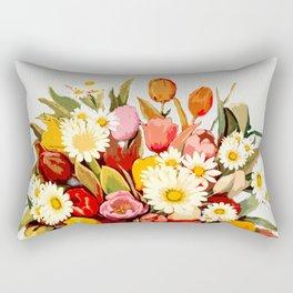 Tulip Bouquet Rectangular Pillow