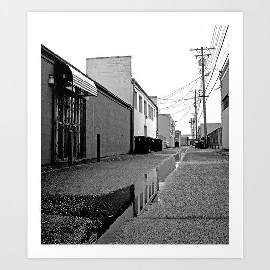 Empty alleyway Art Print