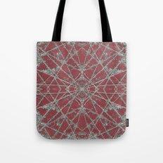 Snowflake Red Tote Bag