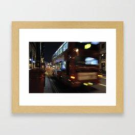 Night Bus Framed Art Print