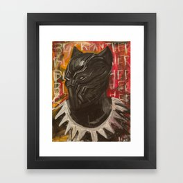 BLVCK PVNTHER Framed Art Print