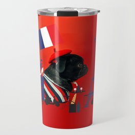 Proud Pug from Paris Travel Mug