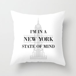 New York State of Mind #1 Throw Pillow