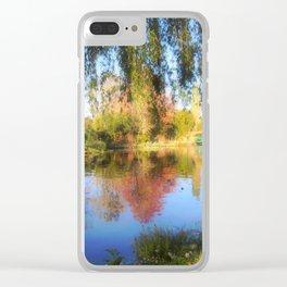 Dreamy Water Garden Clear iPhone Case