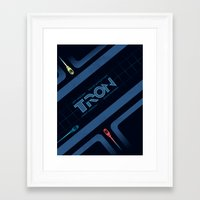 tron Framed Art Prints featuring Tron by nathanandersonart