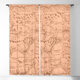 Beautiful Vintage Map Pattern Blackout Curtain