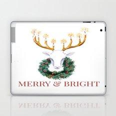 Merry and Bright Deer Laptop & iPad Skin