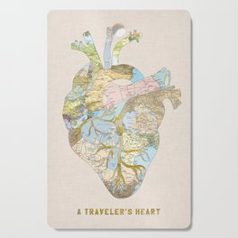 A Traveler's Heart Cutting Board