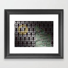 221 Beware Framed Art Print