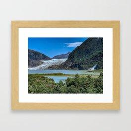 Glacier Meets Water Framed Art Print