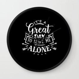 antisocial, antisocial introvert, antisocial anti-social Wall Clock