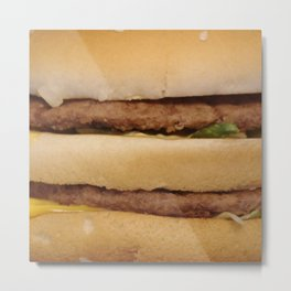 Fast food Hamburgers are the best in the world. So...yeah, I would use Hamburger stuffs for my life. Metal Print