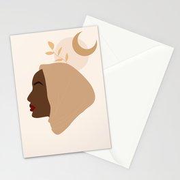 Modern pretty hijabi woman Stationery Cards