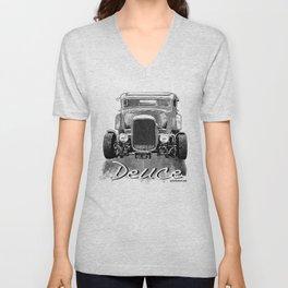 1932 Ford Deuce Milners Coupe American Graffiti Unisex V-Neck