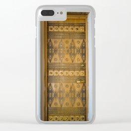 Saudi Heritage Door Clear iPhone Case