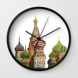 St. Basil's Cathedral - Moscow, Russia  Wall Clock