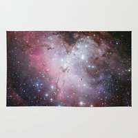 nasa Area & Throw Rugs featuring Nebula star Eagle constellation galaxy hipster NASA space stars hipster geek sci fi landscape photo by iGallery