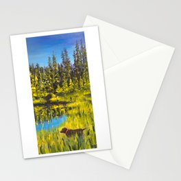 Barbara Kops Goldie Lake with Zoey Stationery Cards