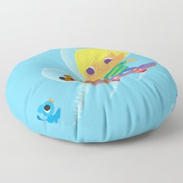 hover boarding future boy Floor Pillow