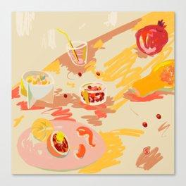ORANGE AND PINK FRUIT Canvas Print