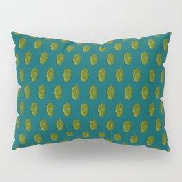 Hops Dark Cyan Pattern Pillow Sham
