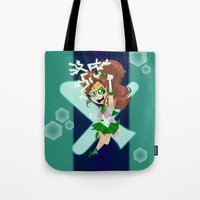 sailor jupiter Tote Bags featuring Sailor Jupiter by Eileen Marie