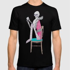 circus skeleton SMALL Mens Fitted Tee Black