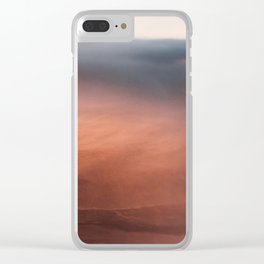 Above the Cloud Looking over the Earth - Landscape Photography Clear iPhone Case